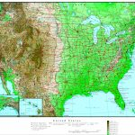 United States Elevation Map - Printable Topographic Map Of The United States