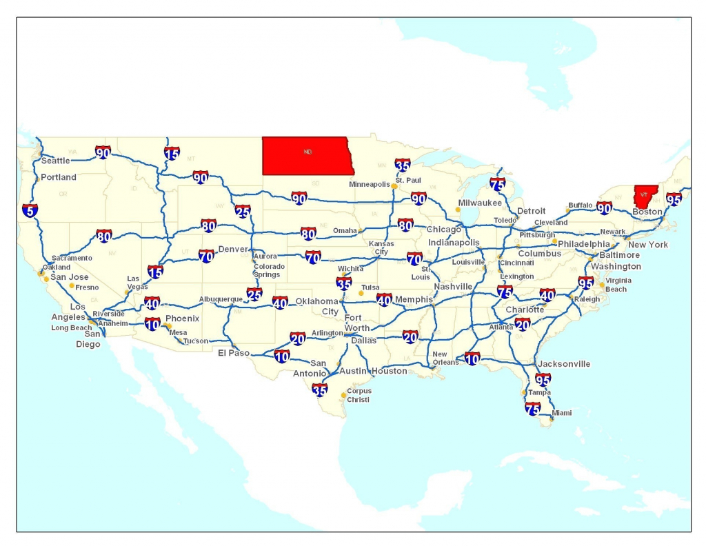 United States Freeway Map | Sitedesignco - Printable Us Map With Interstate Highways