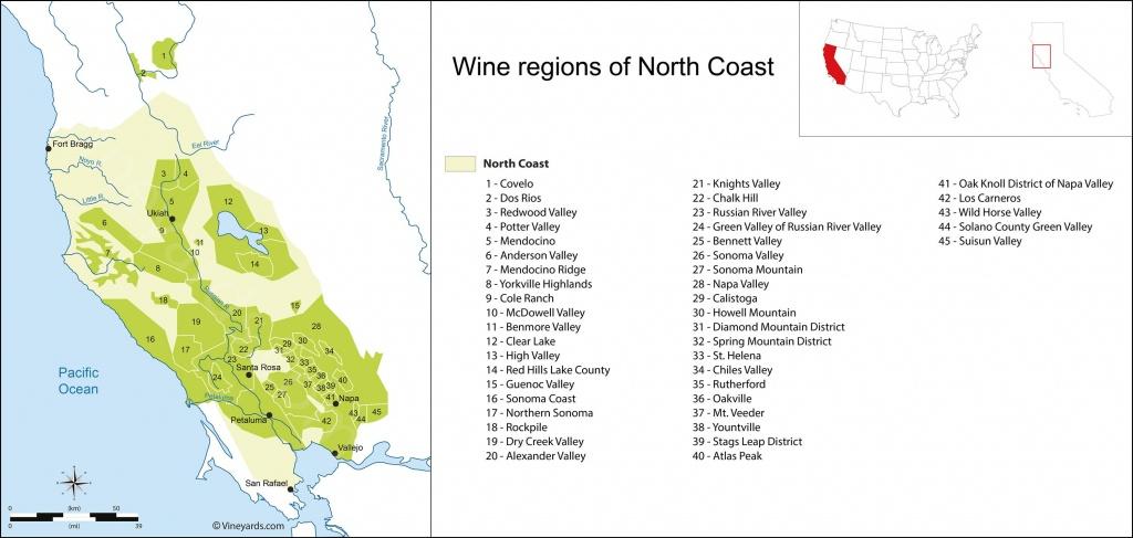 United States Map Of Vineyards Wine Regions - San Martin California Map
