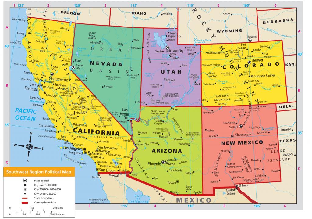 United States Map Southwest Region - Southwest Region Map Printable