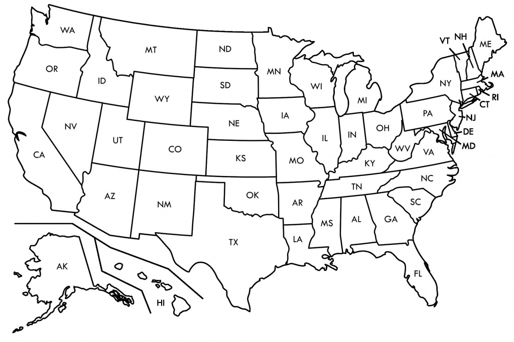 United States Map State Abbreviations Refrence Us Abbreviation Quiz - Printable State Abbreviations Map