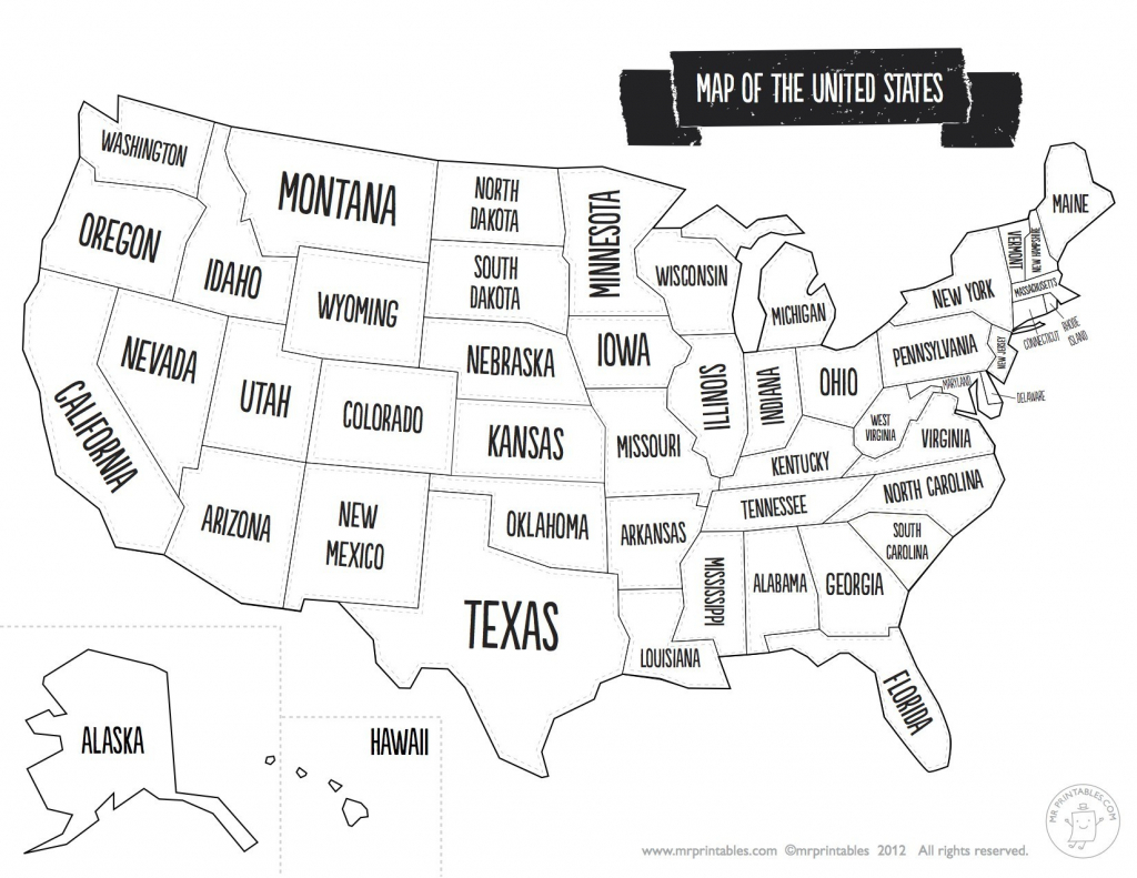 United States Map With State Names And Capitals Printable Save - Printable Us Map With States