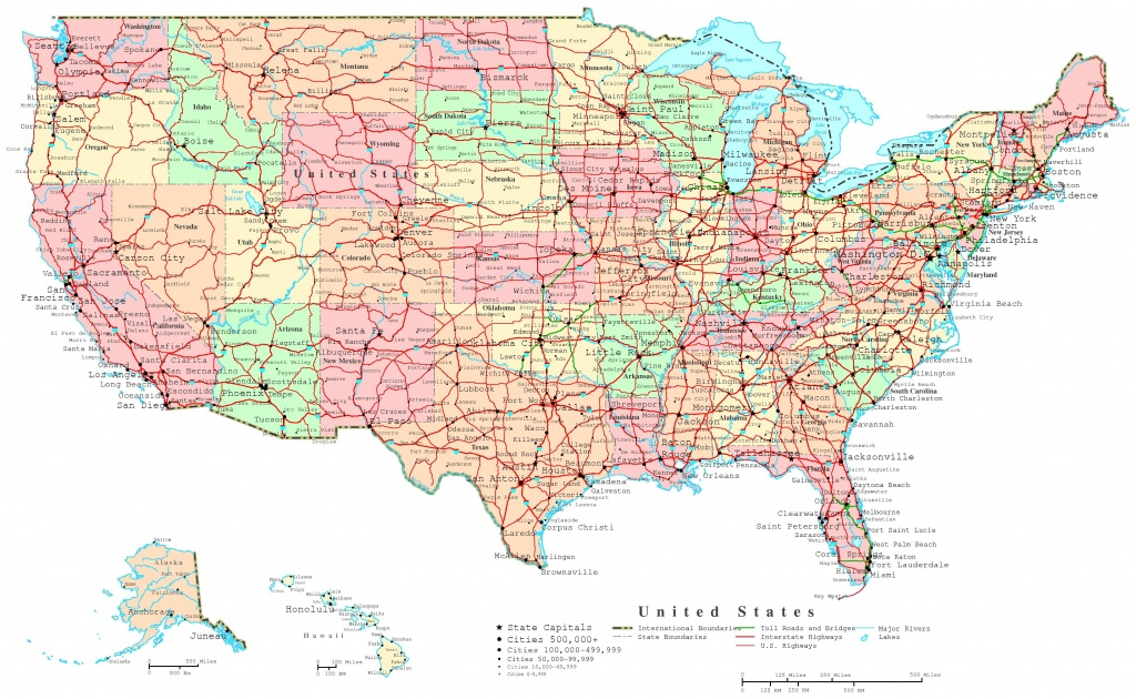 United States Printable Map - Printable Us Map With Major Cities