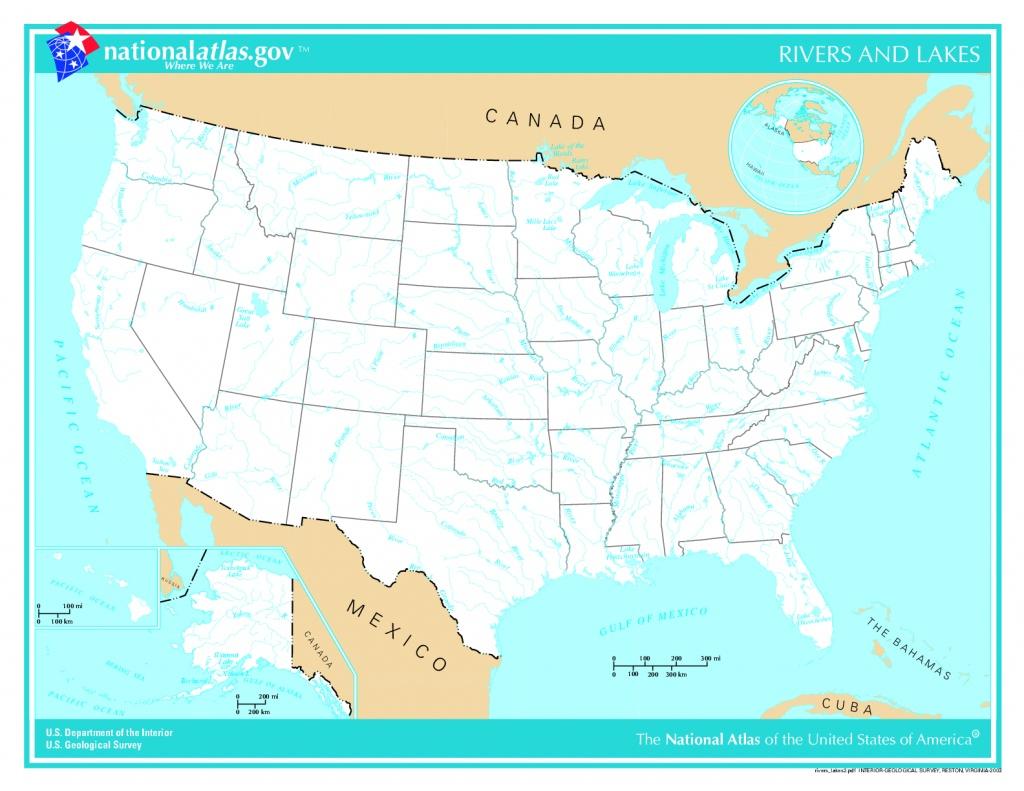 United States River Maps - Lgq - Us Rivers Map Printable