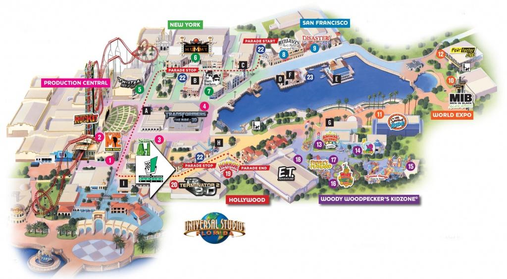 Universal Florida Map And Travel Information | Download Free - Universal Studios Florida Map