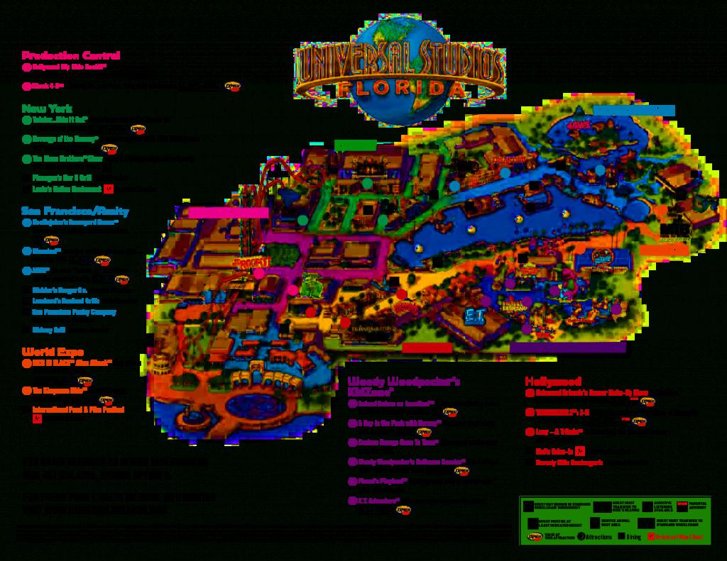 Universal Orlando Park Map 2013   Orlando Theme Park News: Wdw - Florida Theme Parks On A Map