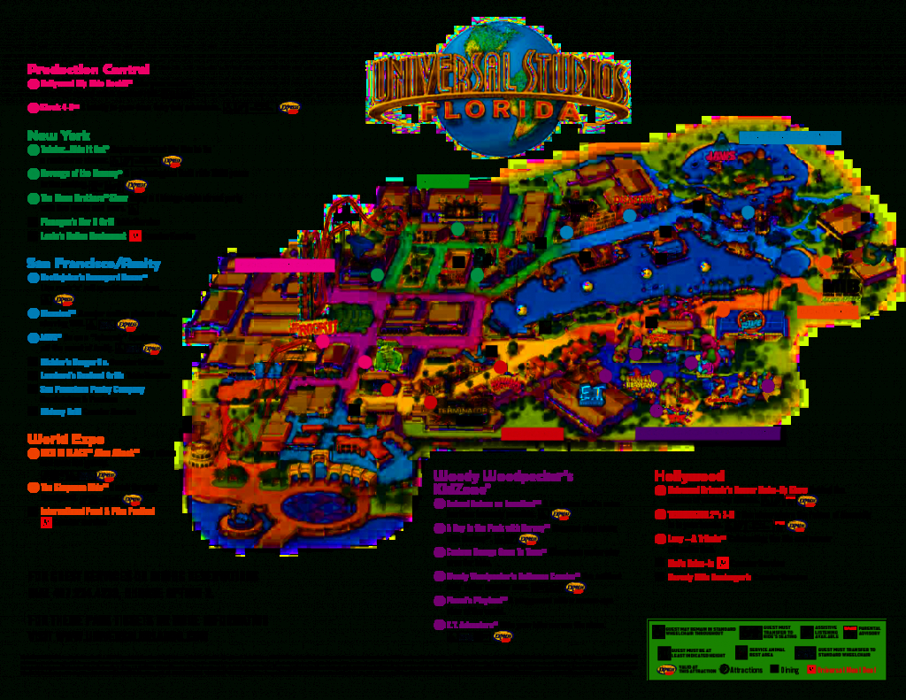 Universal Orlando Park Map 2013 | Orlando Theme Park News: Wdw - Universal Florida Park Map