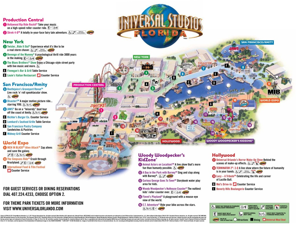 Universal Park Map | Florida Visit Ideas | Universal Studios Florida - Orlando Florida Attractions Map