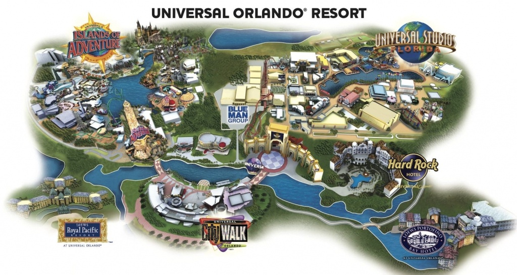 Universal Resort Map. Staying At Hard Rock Hotel Means You're Close - Universal Studios Florida Resort Map