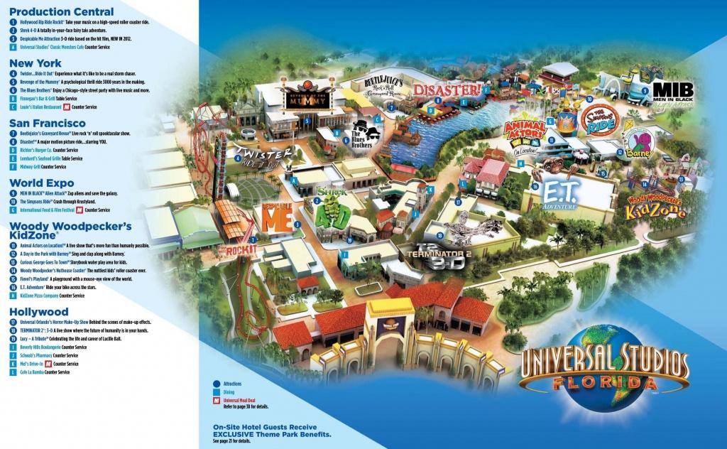Universal Studios Florida Carte - Universal Studios Orlando Carte Du - Universal Studios Florida Resort Map