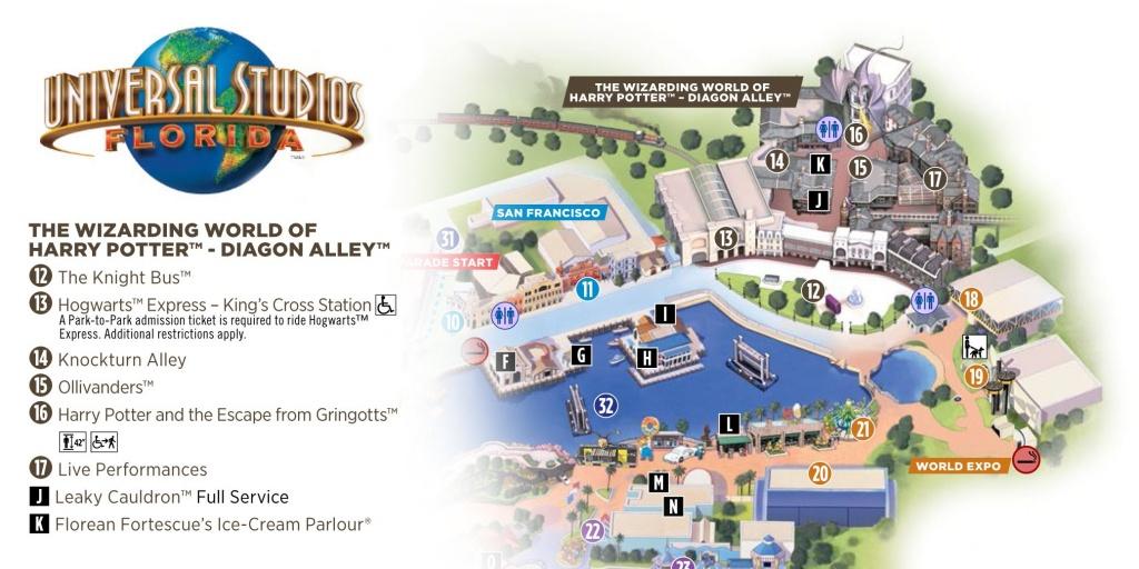 Universal Studios Florida: Diagon Alley (Map) | Potter Party - Universal Studios Florida Park Map
