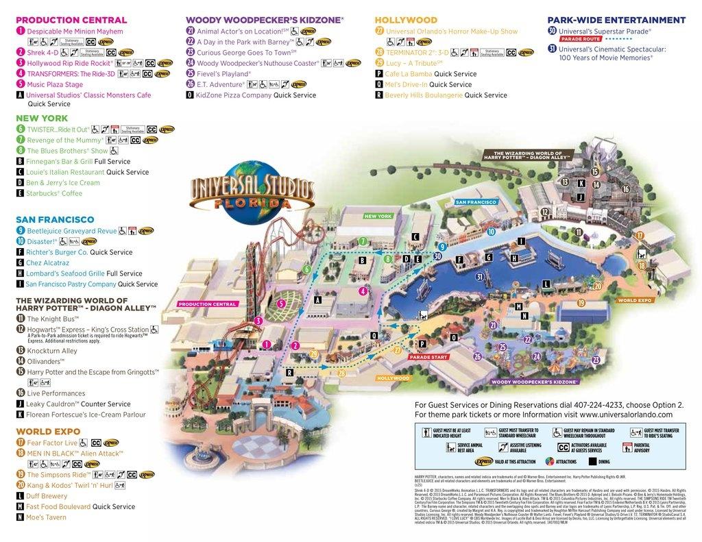 Universal Studios Florida - Maplets - Universal Studios Florida Map 2017