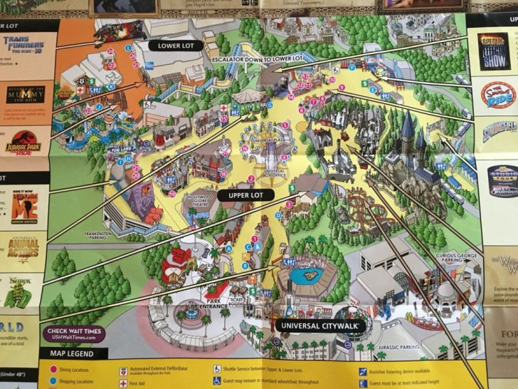 Universal Studios Map California 2018