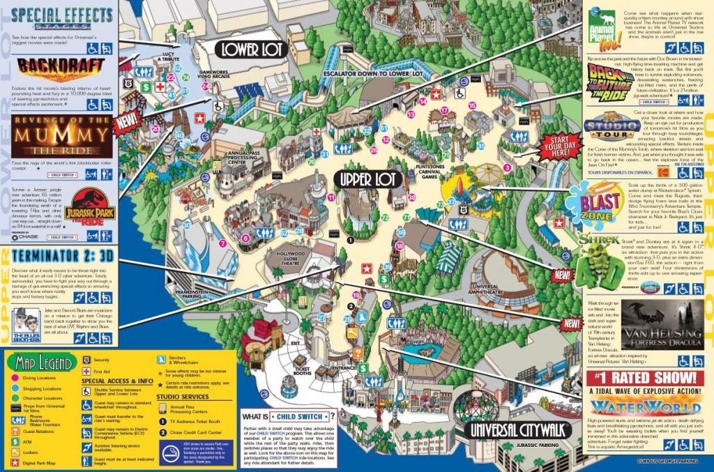 Universal Studios Map | Disneyland/california | Universal Studios - Universal Studios California Map