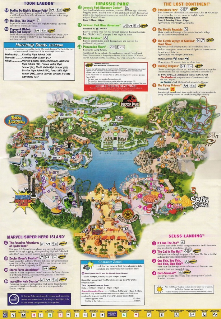 Universal Studios Orlando Map Of Area | Universal Studios Guide Map - Printable Map Of Universal Studios Orlando