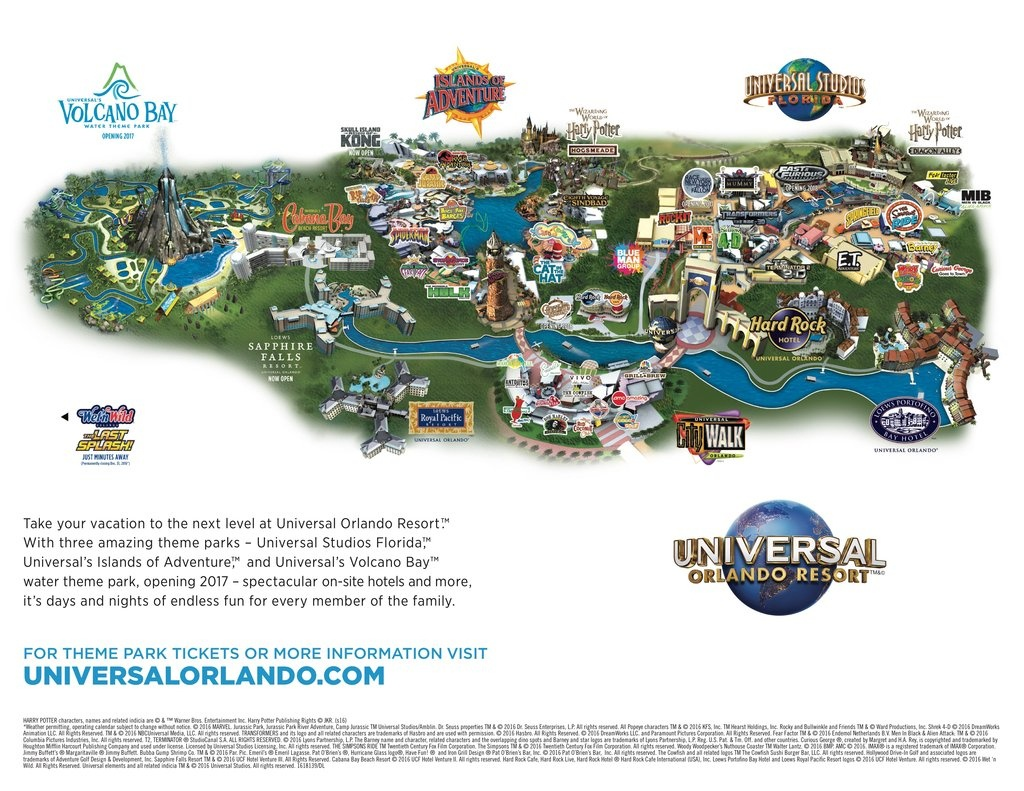 Universal Studios Resort Orlando - Maplets - Universal Studios Florida Hotel Map