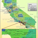 Universities Map Of California, Usa | Colleges / Dorm Rooms For The   California Cities Map List
