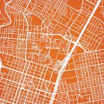 University Of Texas At Austin Campus Map Art   City Prints   Texas Map Art