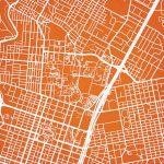 University Of Texas At Austin Campus Map Art   City Prints   Texas Map Art