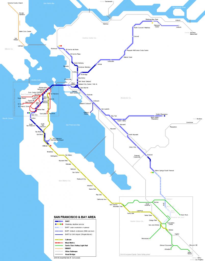 Urbanrail > North America > Usa > California > San Francisco - San Francisco Bay Area Map California