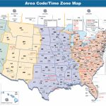 Us Area Code Map With Time Zones Usa Time Zone Map With States   Us Timezone Map Printable