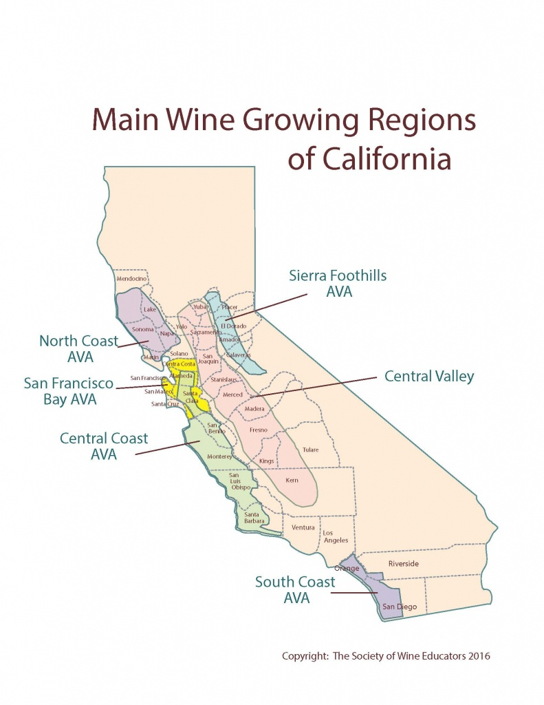 Us—California: Swe Map 2018 – Wine, Wit, And Wisdom - La Costa California Map