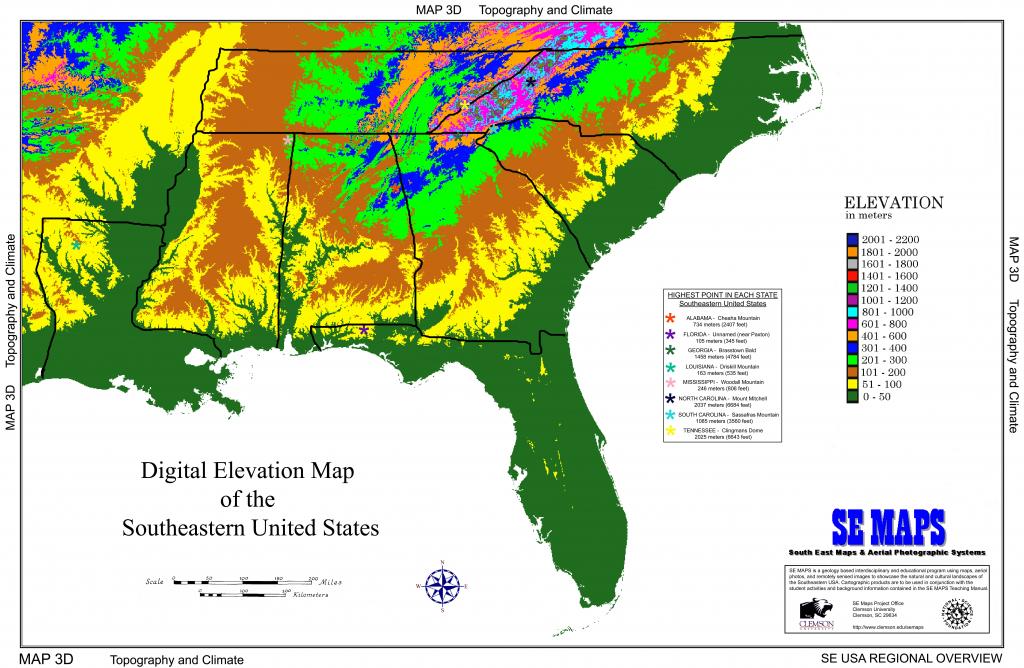 Us Elevation Map Interactive Elevation Unique Elevation Map Us - Interactive Elevation Map Of Florida