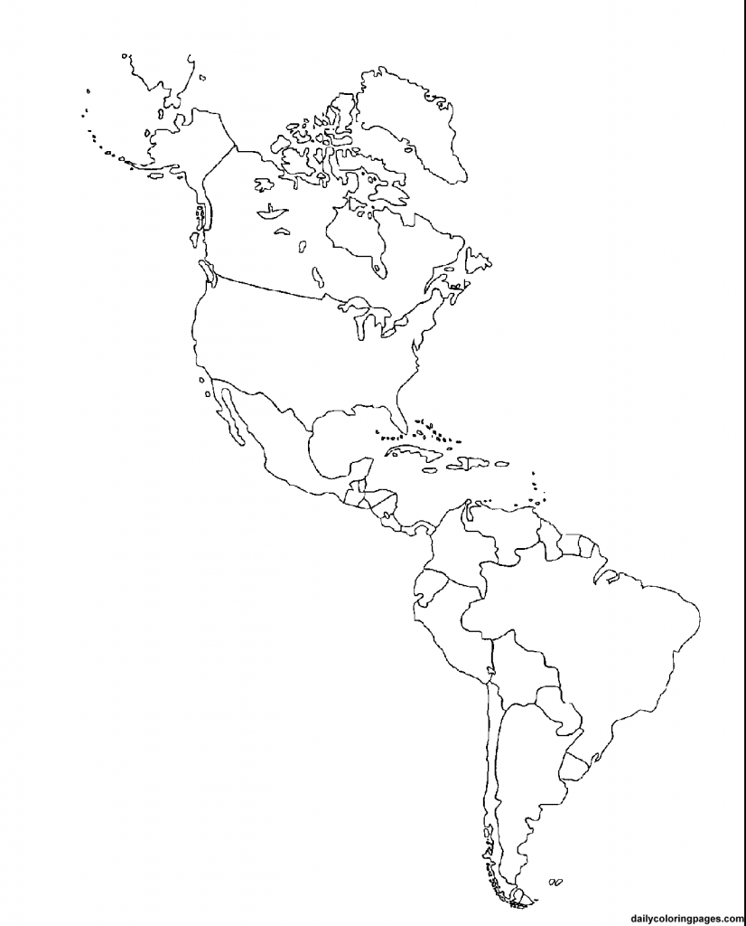 Us Map Coloring | Social Studies Ideas~Ed | America Outline, South - Printable Map Of North And South America