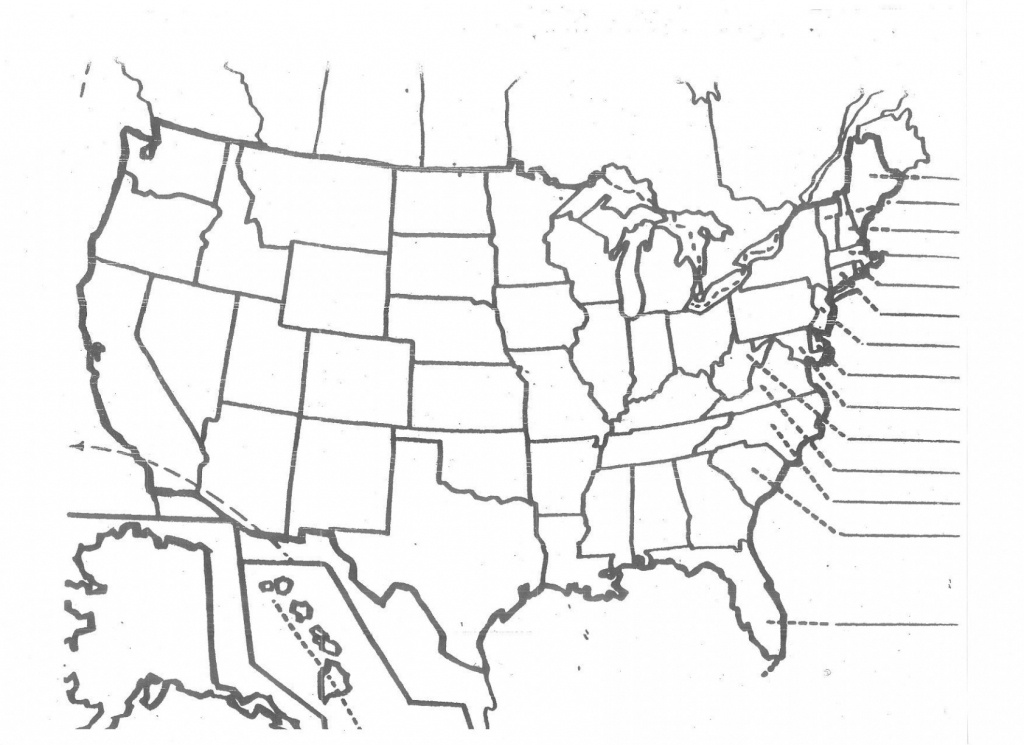 Us Map Unlabeled - Climatejourney - Blank Us Map Quiz Printable