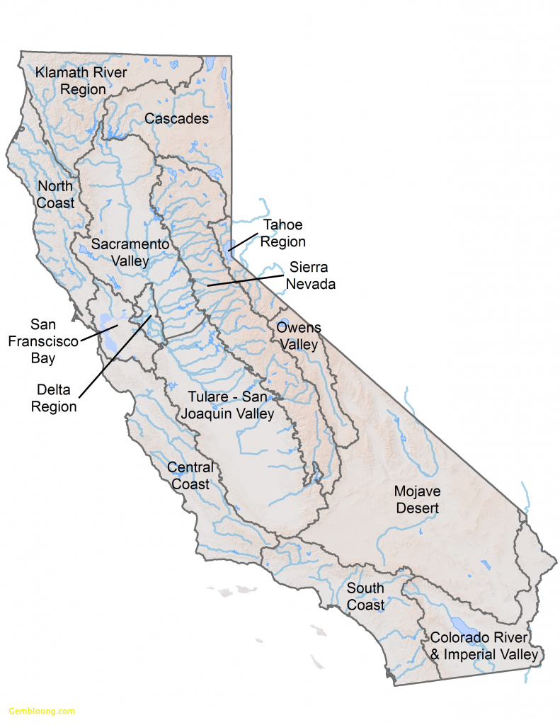 Us Map With Lakes And Rivers Usa River Map Awesome California Rivers - California Rivers Map