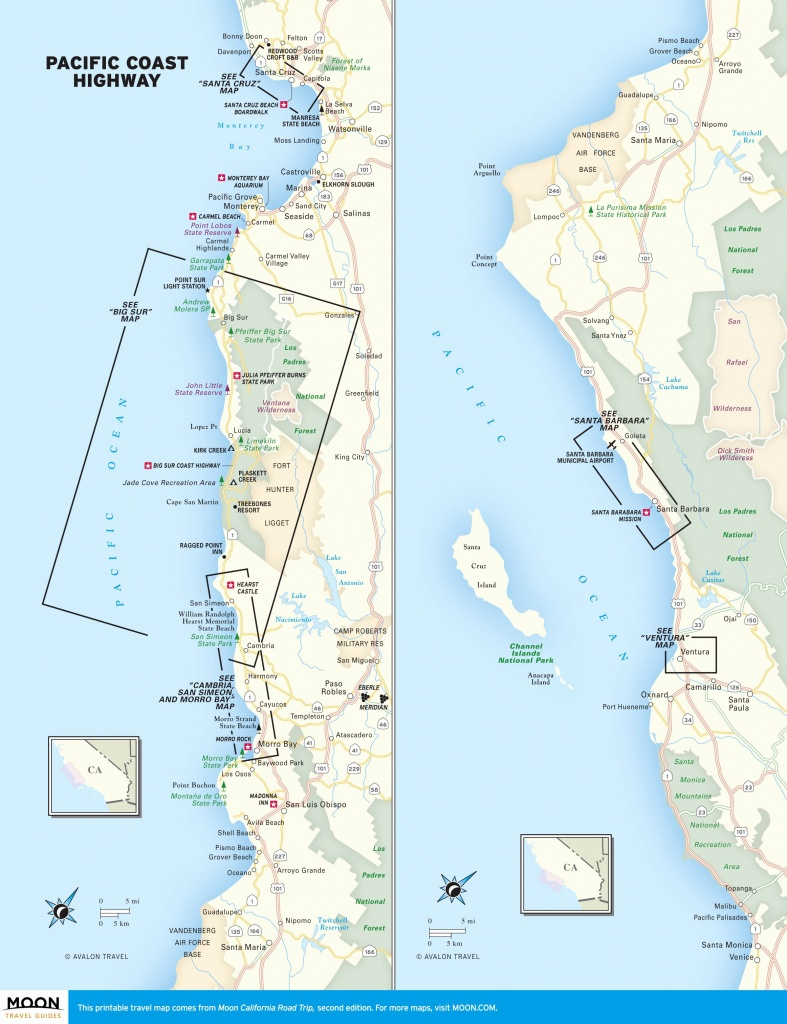 Us Road Trip Map Elegant Us East Coast Road Trip Map Trip Map - Map Of La California Coast