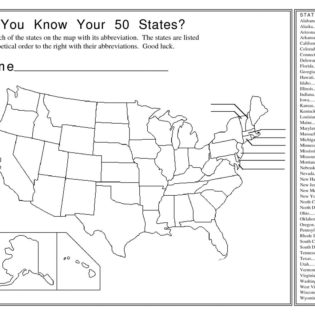 Us State Map Test Quiz Printable Ip0Fwl Save - Us States Map Test Printable