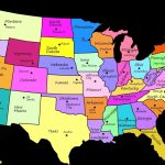 Us States Map With Capitals Us Map Luxury Us States Map With   Free Printable United States Map With State Names And Capitals