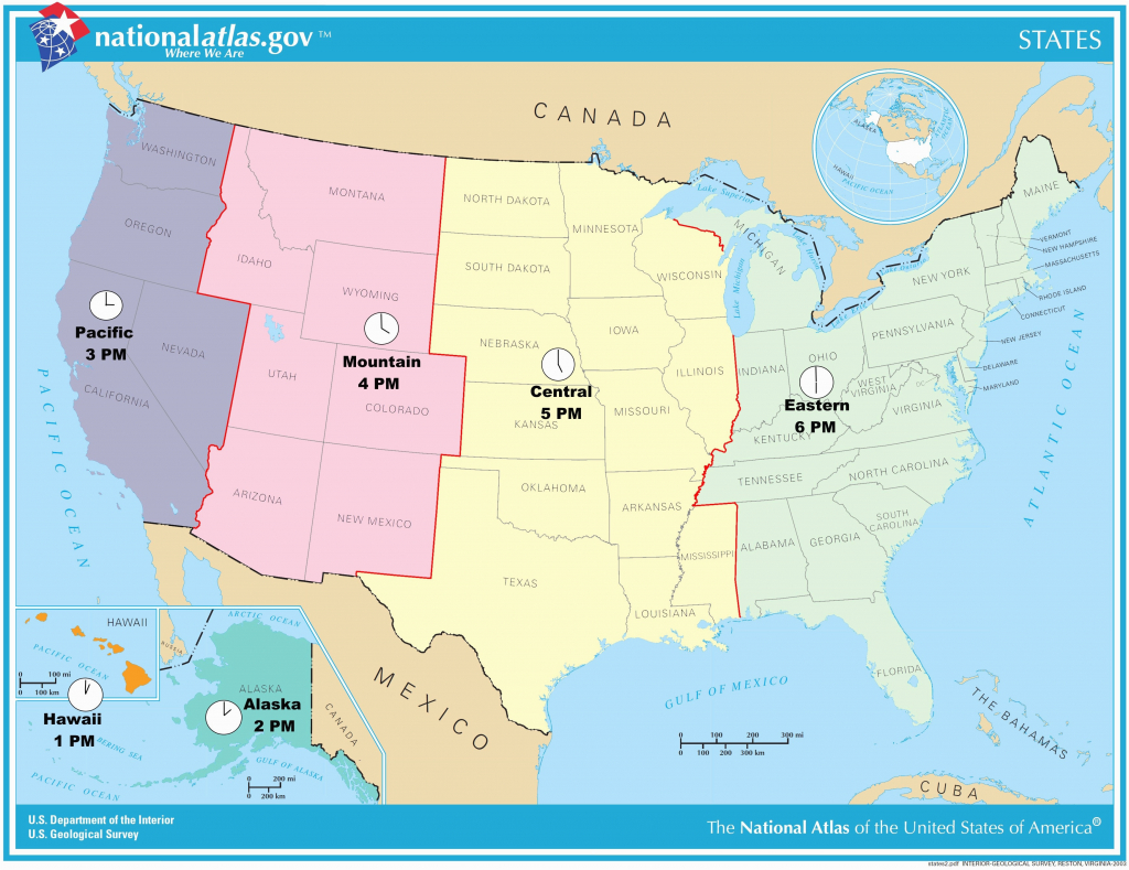 Us Timezone Map With States Timezonemap Beautiful Time Zone Maps - Printable Us Timezone Map