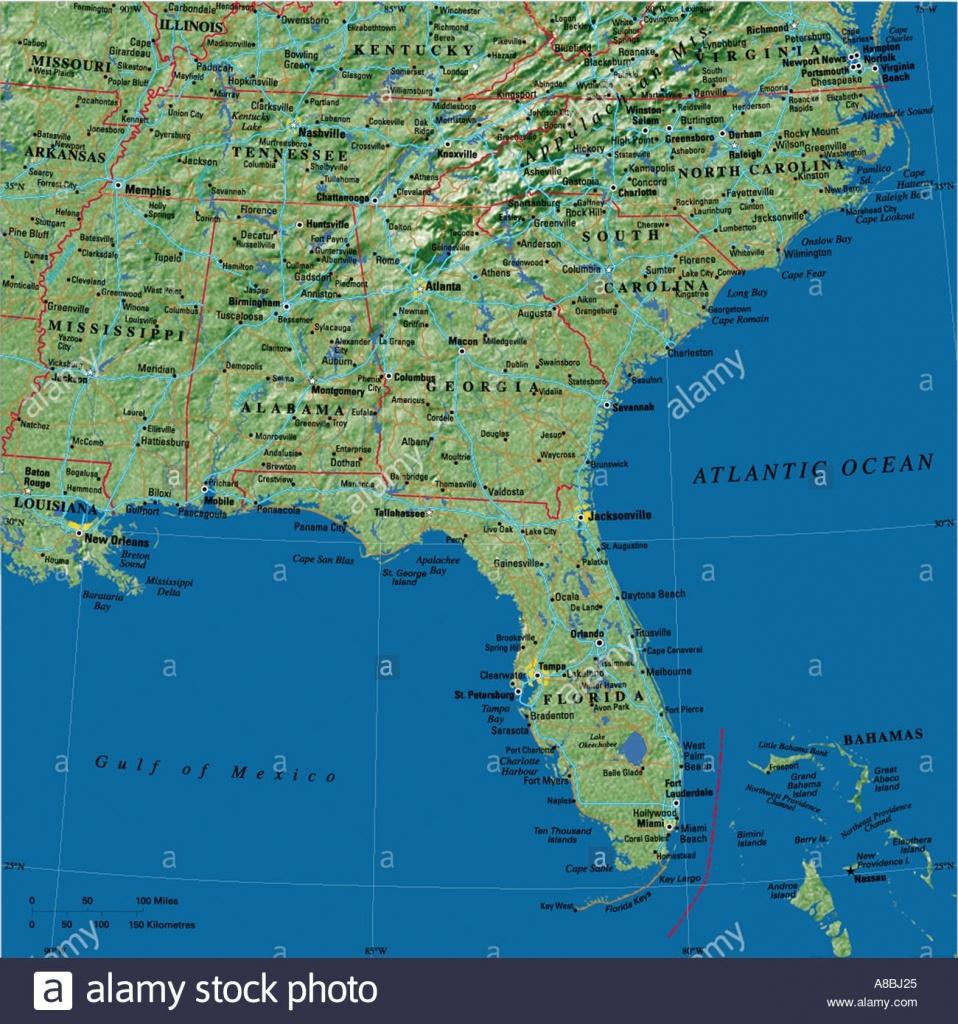 Usa And Caribbean Map Maps Florida A8Bj25 | D1Softball - Map Of Florida And Caribbean
