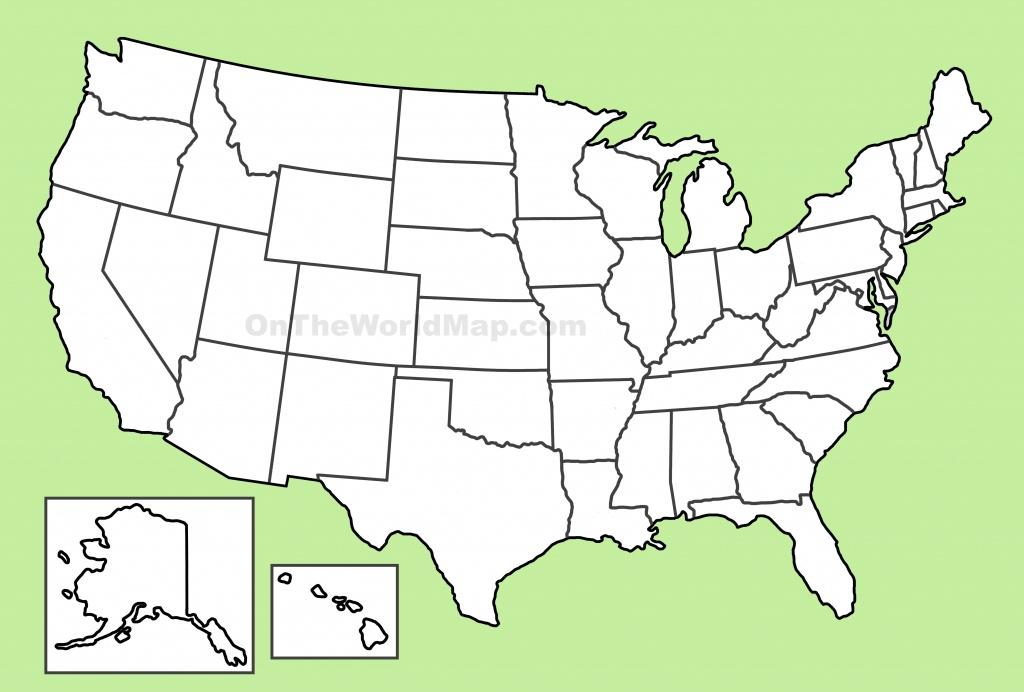 Usa Blank Map - Large Usa Map Printable