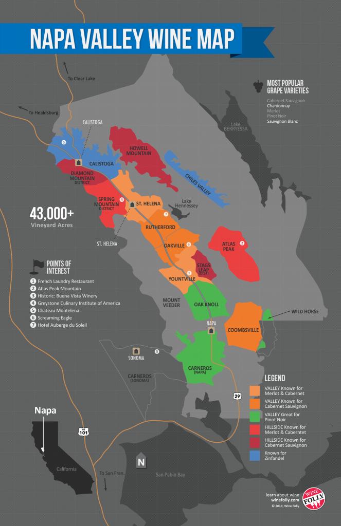 Usa: California, North Coast Wine Map In 2019 | Valentine's Day In - California Wine Country Map Napa