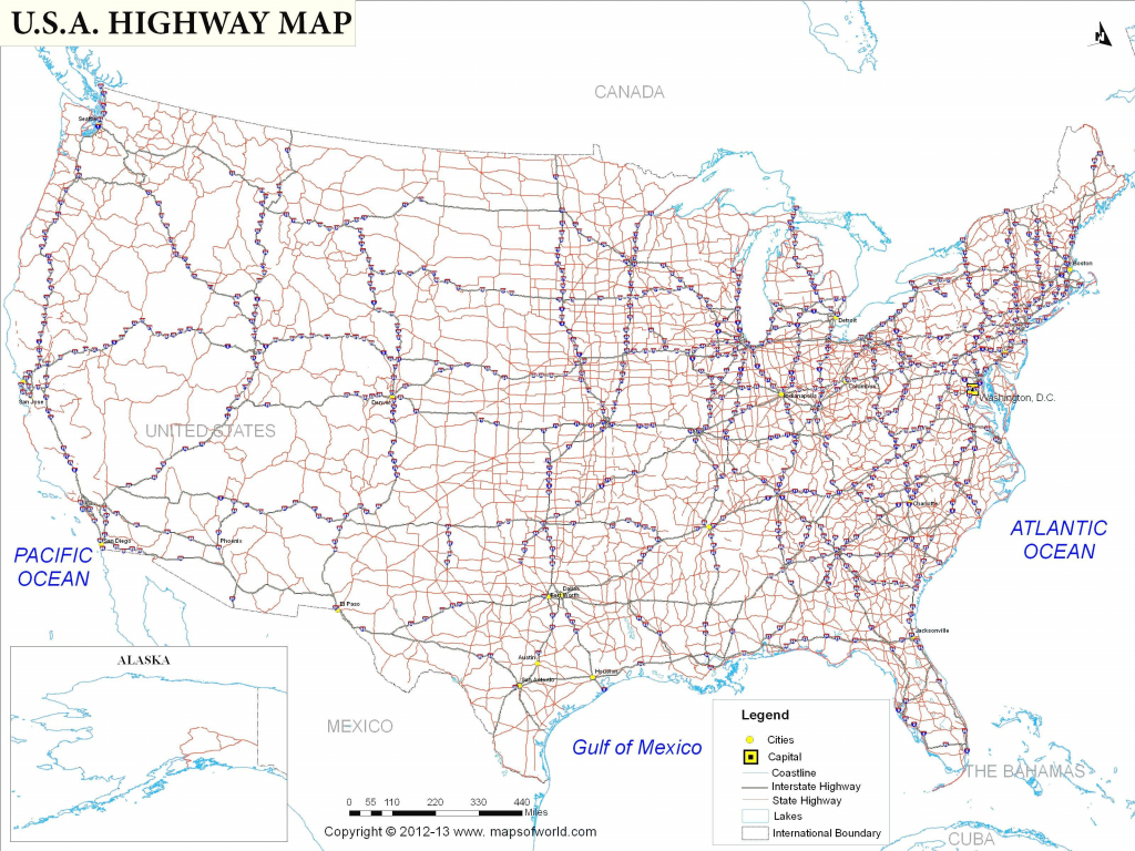 Usa Interstate Highways Map Valid Us With Highway System Printable - Printable Us Map With Interstate Highways
