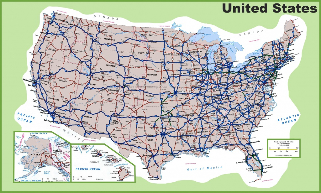 Usa Road Map - Printable Us Map With Interstate Highways