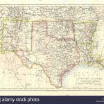 Usa South Central.texas Oklahoma Arkansas New Mexico Louisiana, 1920 – Map Of North Texas And Oklahoma