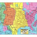 Usa Time Zone Map With States Cities Clock In And World Zones Inside   Printable North America Time Zone Map