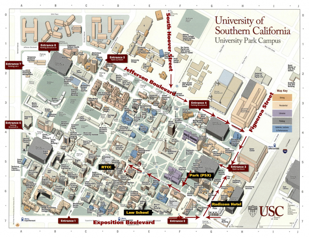 Usc Campus Map – Goletapublishing - Usc Campus Map Printable