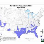 Usda Aphis | History Of Feral Swine In The Americas   Florida Wild Hog Population Map