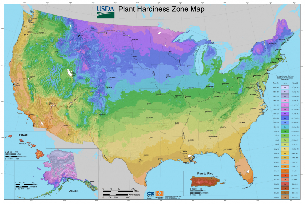 Usda Planting Zones For The U.s. And Canada   The Old Farmer's Almanac - California Heat Zone Map
