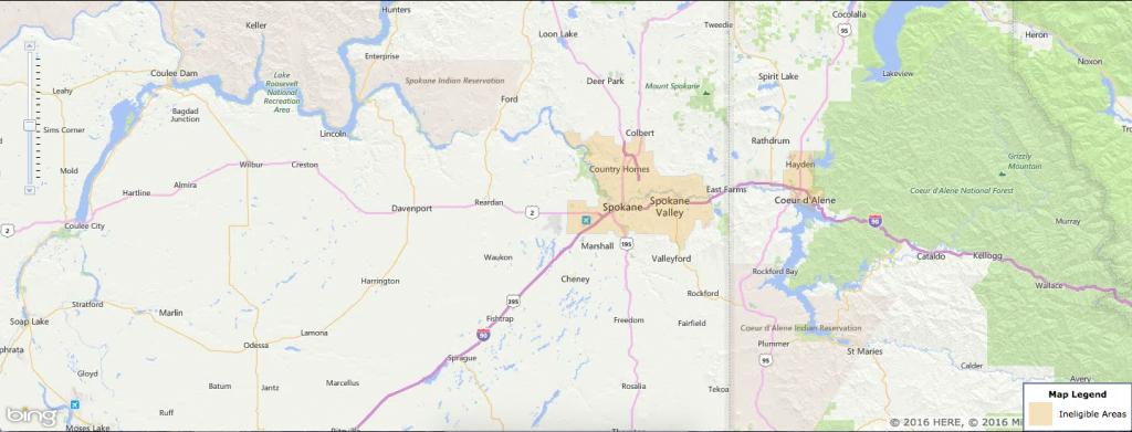 Usda Rural Development Loan - Spokane, Wa - Usa Home Financing - Usda Property Eligibility Map Texas