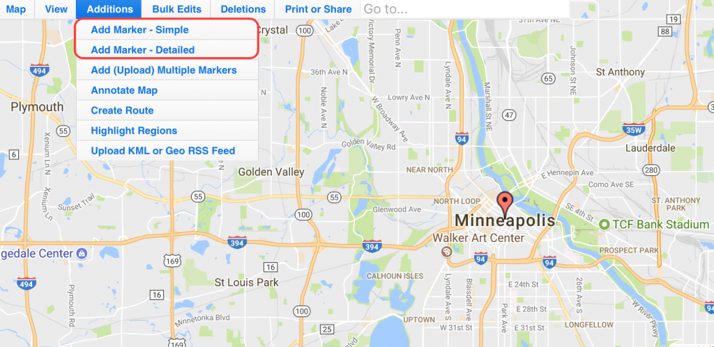 Use Map Maker To Add Locations On An Interactive Zeemaps Map - Create Printable Map With Pins