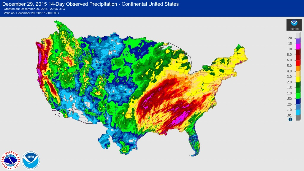 Usgs 2015/2016 Winter Floods - Map Of Flooded Areas In Texas