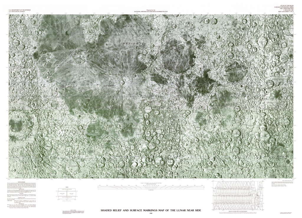 Usgs Shaded Relief Maps Of The Moon - Printable Moon Map