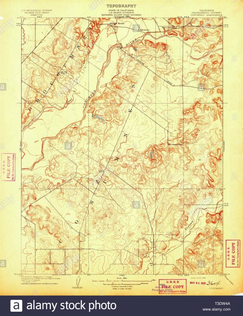 Usgs Topo Map California Ca Cosumnes 296026 1909 31680 Restoration - Usgs Topo Maps California