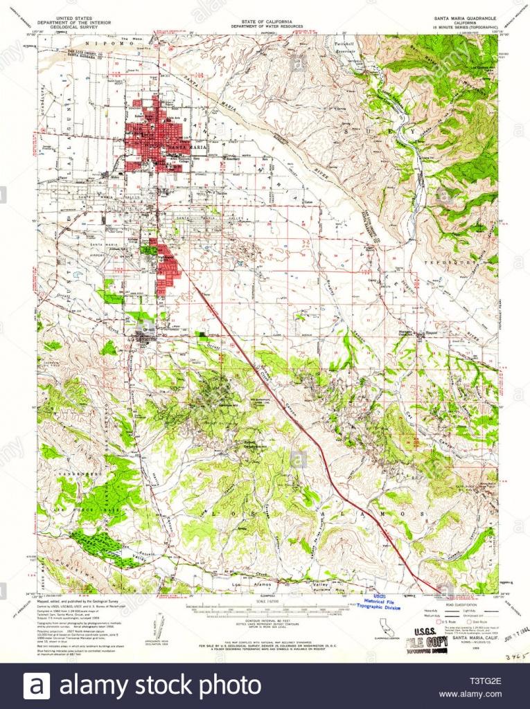Usgs Topo Map California Ca Santa Maria 301618 1959 62500 - Santa Maria California Map